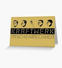Kraftwerk Taschenrechner (black) Greeting Card