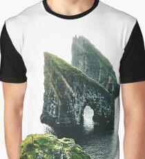 Faroe Islands aerial view Graphic T-Shirt