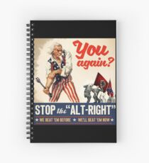 Antifa | Stop the Alt Right | Anti Trump Spiral Notebook