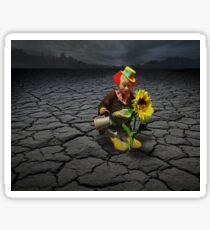 Lonely Clown Sunflower Rockscape Sticker