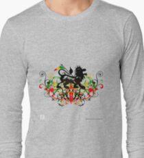 Dubstep Rasta Lion of Judah No Werdz Version Long Sleeve T-Shirt