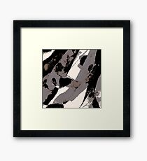 Organic No.1 Abstract #muted #redbubble #artprints #fineart Framed Print