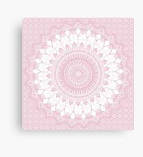 Boho Pink Mandala Canvas Print