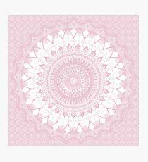 Lámina fotográfica Boho Pink Mandala
