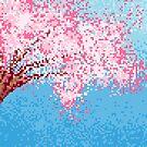 Pixel Sakura / Cherry Blossom by pooknero
