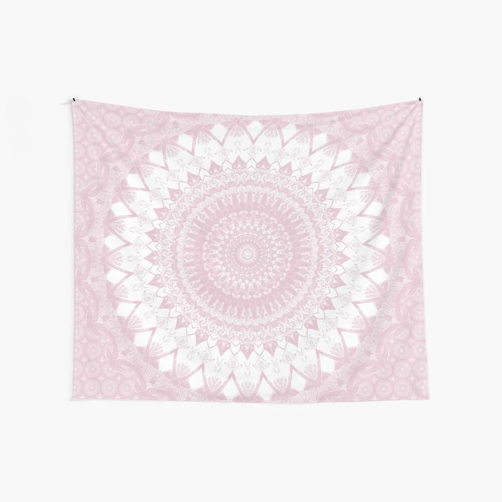 Boho Pink Mandala Wall Tapestry