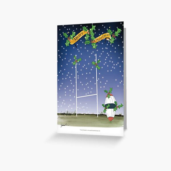 Happy Christmas Rugby Fans Greeting Card