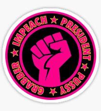 Impeach President Pussy Grabber Sticker