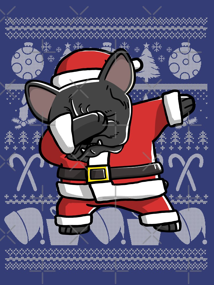 dabbing french bulldog ugly christmas sweater graphic by ilovepaws