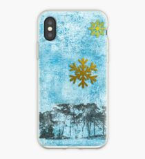 Holiday in Blue and Gold iPhone Case