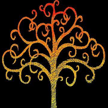 Firey Tree by henzy