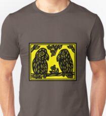 Acquiesce Bird Yellow Black Unisex T-Shirt