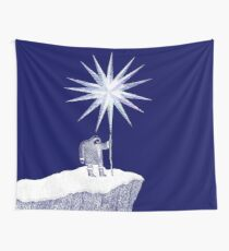 Old Man Winter Hermit and North Star Wall Tapestry