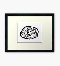 Puzzle Brain Framed Print