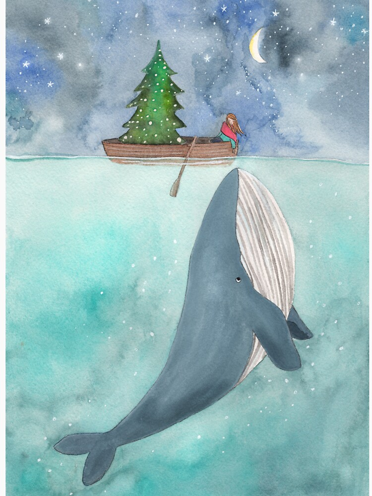 Christmas whale by tinavandijk