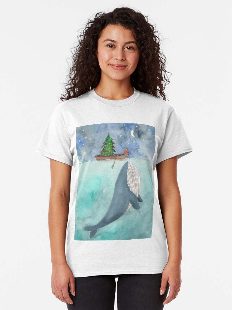 Alternate view of Christmas whale Classic T-Shirt