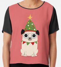 It's Christmas for Pug's sake Chiffon Top