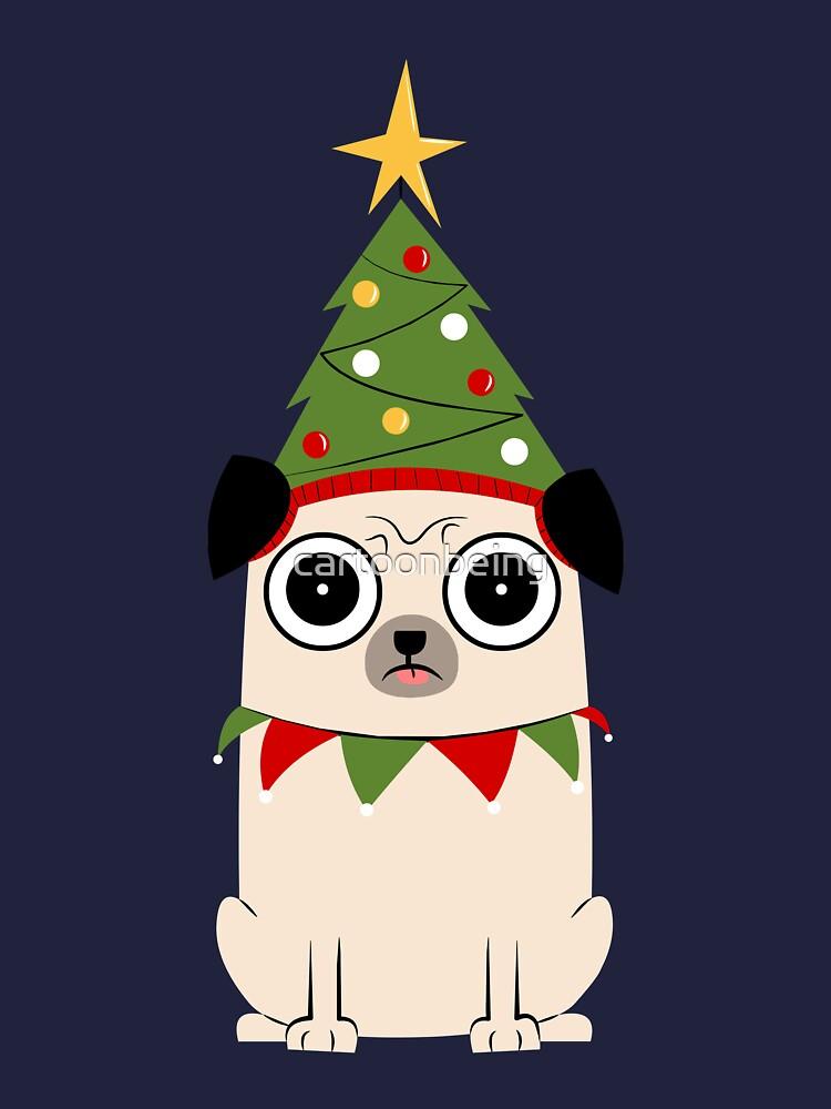 Es Navidad por el amor de Pug de cartoonbeing