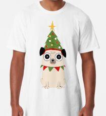 Camiseta larga Es Navidad por el amor de Pug