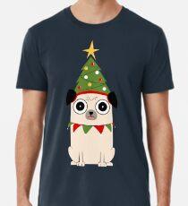 Camiseta premium para hombre Es Navidad por el amor de Pug