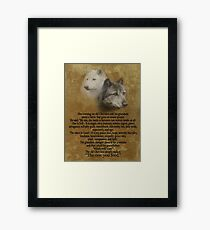 The Two wolves, Cherokee proverb Framed Print