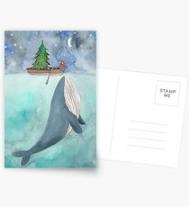 Christmas whale Postcards