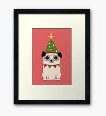 It's Christmas for Pug's sake Framed Print