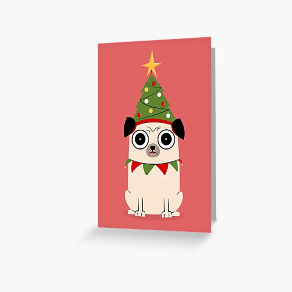 It's Christmas for Pug's sake Greeting Card