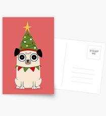 Es ist Weihnachten um Pug willen Postkarten