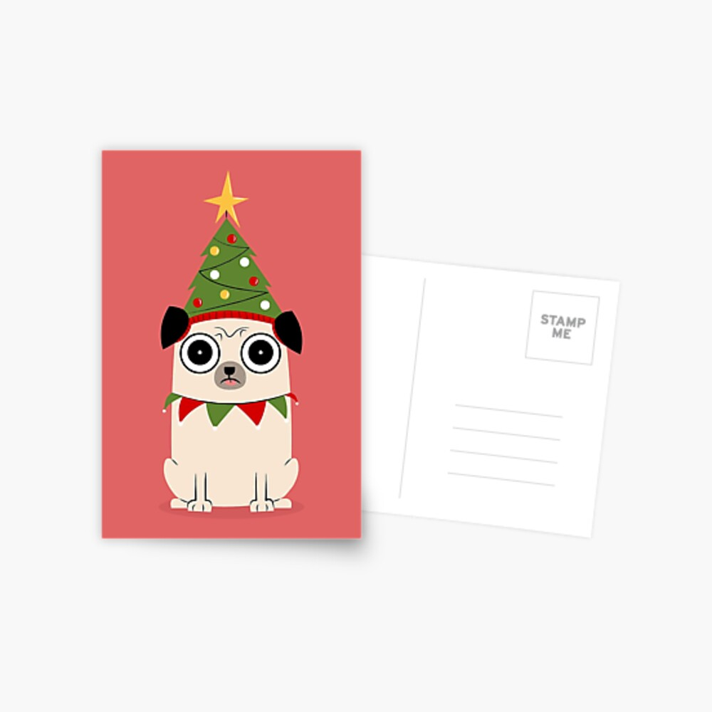 It's Christmas for Pug's sake Postcard
