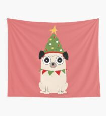 It's Christmas for Pug's sake Wall Tapestry