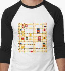 Broadway (Mondrian) Men's Baseball ¾ T-Shirt