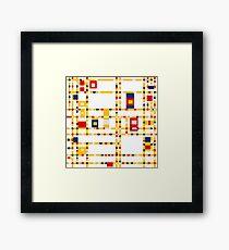 Broadway (Mondrian) Framed Print