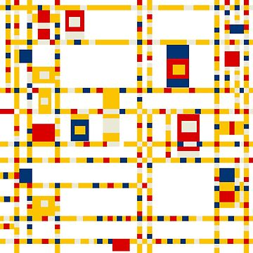 Broadway Boogie Woogie (Mondrian) by RetroPops