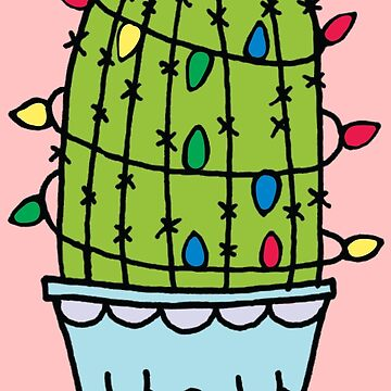 Cute Holiday Cactus  by claudiaramos