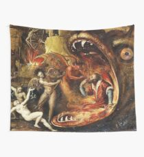 An insight into Hell with demons Wall Tapestry