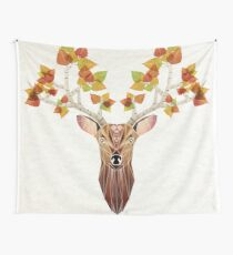 deer autumn Wall Tapestry