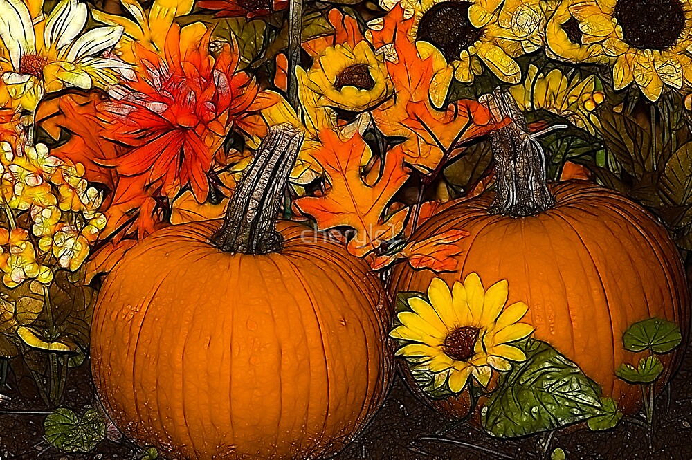 Pumpkins- treatment by Angel Perry by cherylc1