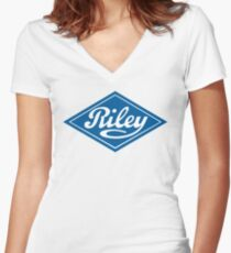 Riley - the Classic British Car Women's Fitted V-Neck T-Shirt