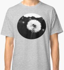 Dandelion 4 Black and White Classic T-Shirt