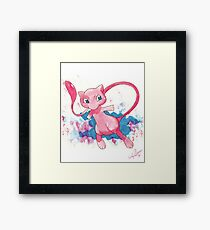 Mew! Pokemon  Framed Print