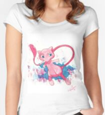 Mew! Pokemon  Women's Fitted Scoop T-Shirt