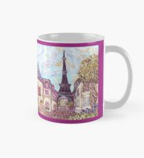 Paris Eiffel Tower inspired pointillism landscape by Kristie Hubler Mug