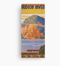 Vintage Travel Poster - Hudson River on the New York Central Line Canvas Print