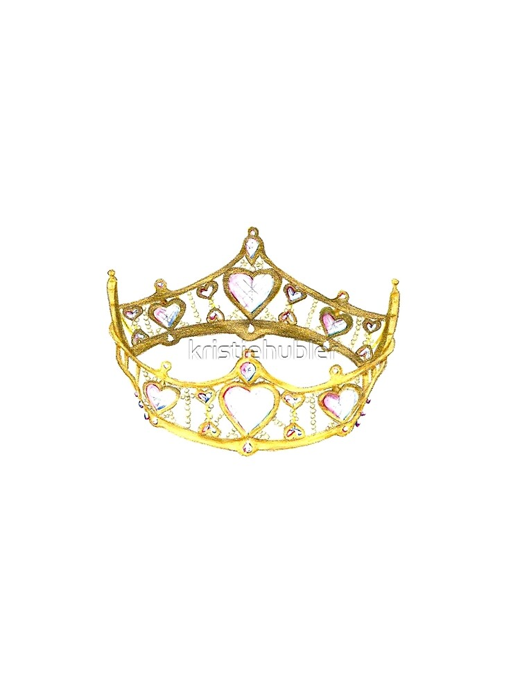 Queen of Hearts gold crown tiara by Kristie Hubler by kristiehubler