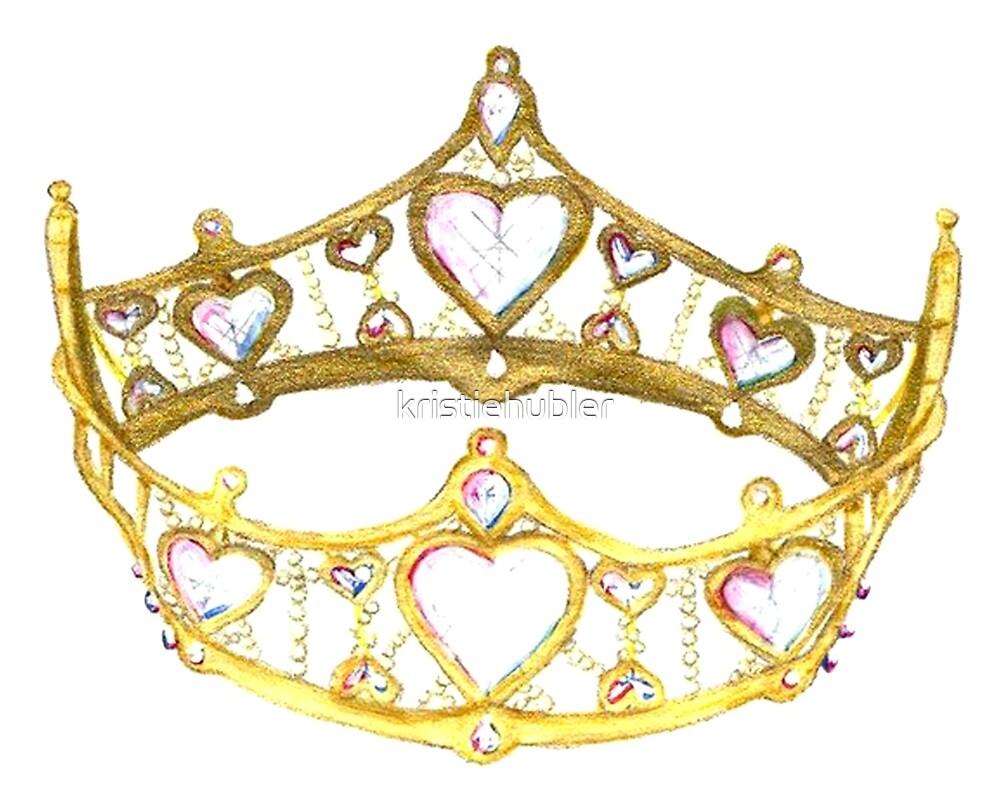 Queen of Hearts gold crown tiara by Kristie Hubler\