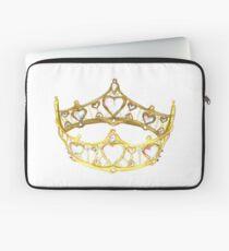 Queen of Hearts gold crown tiara by Kristie Hubler Laptop Sleeve