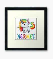 Kermit Unicorn Framed Print