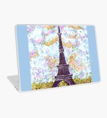 Eiffel Tower Pointillism by Kristie Hubler Laptop Skin