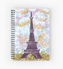 Eiffel Tower Pointillism by Kristie Hubler Spiral Notebook